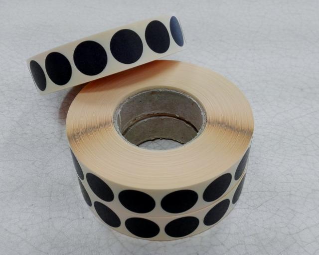 Zálepky na terč / barva černá / průměr 16mm